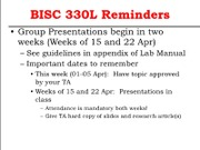 BISC 330L 2013 Lab 8 Separation of Intracellular Compartments (CB)
