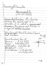 math homework: pages 424-427 notes and problems