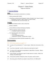 Study Guide (Chapter 9 - Aqueous Solutions).pdf