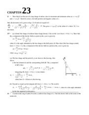 Chapter 23 Homework Solution on University Physics II