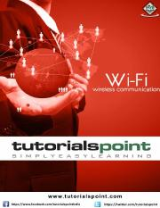 wifi_tutorial pdf - WiFi About the Tutorial WiFi is