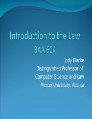 BAA604IntroductionToLaw.ppt