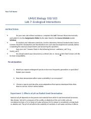 umuc biol 103 lab 5 Umuc biology 102_103 lab 3 cell structure and function complete answer - free download as word doc (doc), pdf file (pdf), text file (txt) or read online for free.
