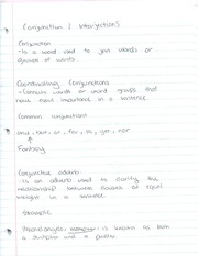 English Conjunction and Interjections notes