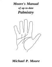 Moore's Manual of uptodate palmistry