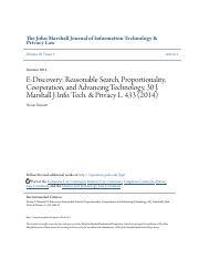 E-Discovery- Reasonable Search Proportionality Cooperation and.pdf
