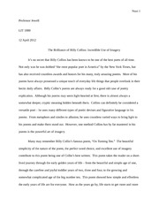 Essay on Billy Collins