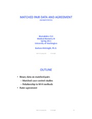 3. Matched pair and rater's agreement