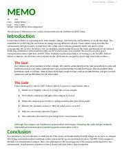 Ethics Assignment Guidelines MEMO