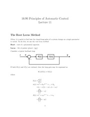 16.06_Lecture on The Root Locus Method