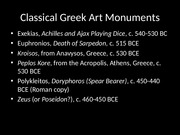 Classical Greek Painting Sculpture Images slides