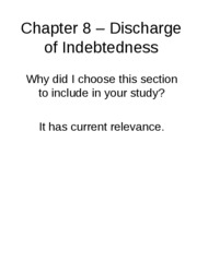 "Chapter 8 v2â€"" Discharge of Indebtedness"