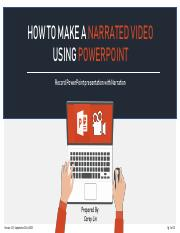 How to Make a Narrated Video Using PowerPoint (1).pdf