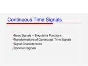 Ch2 Continuous-Time Signals