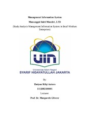 Management Information Systems - Final Assignment- Hadyan Rifqi Antoro- 1112082100001