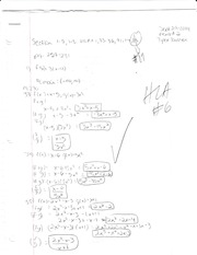 Pre Calculus Homework Section 1-7, 1-8
