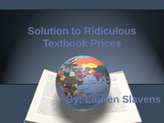 Solution To Textbook Problem