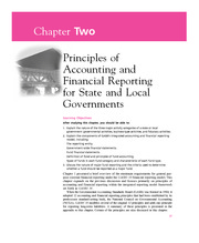 Chapter 2  Principles of Accounting and Financial Reporting for State and Local Governments