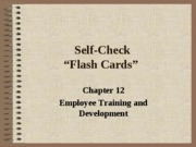 Self Check Chapter 12