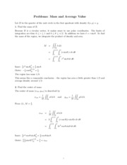 Mass and Average Value problems study guide