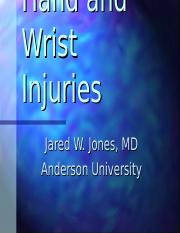 Hand and Wrist Injuries.ppt