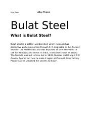Alloy Project, Bulat steel.docx