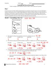 Limiting Reactant Worksheet Answers Pdf - worksheet