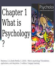 Chapter 1  The Science of Psychology(1)
