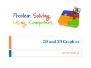 Lec 12 2D and 3D Graphics