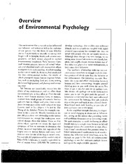 5_Overview of Environmental Psychology