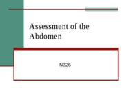 326 Assessment of the Abdomen