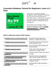 01-Cassandra Database Tutorial for Beginners_ Learn in 3 Days.pdf