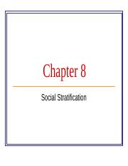 Chapter 8 Social Stratification.ppt