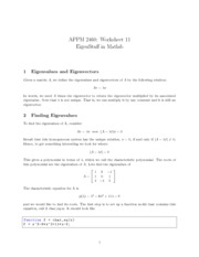 APPM2460Worksheet11