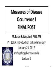 PH150A_2017_ Lect 2_Measures of Disease Occurence I FINAL POST (1)