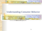 Customer behavior and satisfaction slides