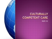 culturally competent care and the class standards slides