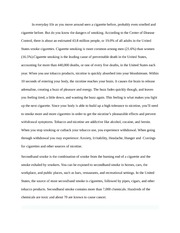 Essay on Effects of Smoking