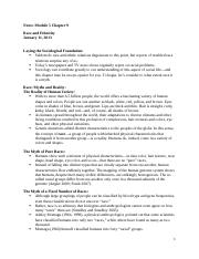 Notes Module 5 Essentials of Sociology Chapter 9