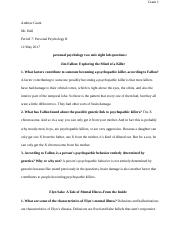 personal psychology two unit eight lab question.docx