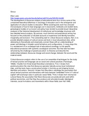 EL ED 323 Notes For Critical Literacy Paper Wimmer Winter 2014