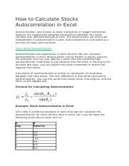 How to Calculate Stocks Autocorrelation in Excel.docx