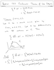 Section 13.3 Fundamental Theorem of Line Integrals