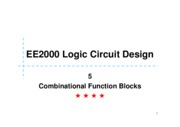 05 Combinational Functional Blocks