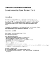 Edgar Co Excel Project Part 2 Assignment