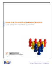 the_focus_group_in_market_research