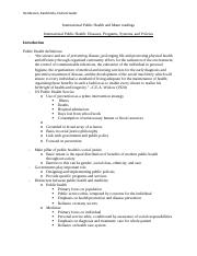 07 Notes--Public Health and Mann