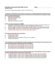Exam 2 Fall 2009 - Answers