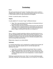 Witchcraft Terminology Study Guide