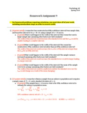 Homework 09 - Answers and Points